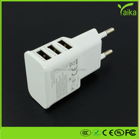 3.1A 3 Ports USB Charger Universal USB Wall Charger AC Mobile Phone Charger For Home Travel With US and EU Plug option