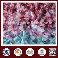 high quality cvc cotton polyester plain burnt-out fabric transfer print flower pattern knitting