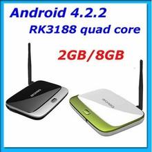 X6 Android TV Box RK3188 Quad core Media Player