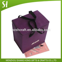 Hottest purple cooler bag/insulated cooler lunch bag /fabric non woven cooler bag wholesale