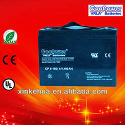 VRLA battery 6V180AH Lead acid battery UPS battery