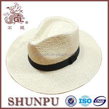 Men folding straw wide brim hats,panama hat for men