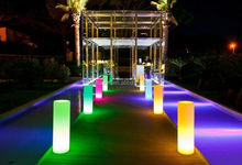 High quality waterproof cordless halloween/christmas /wedding/party/home decor light LED column/pillar/foothold/cylinder/mast