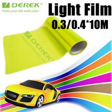 Lemon Yellow PVC Car Headlight Vinyl Decal car protection vinyl 0.3*10 meters