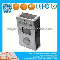 Solar Battery Power Motion Sensor Alarm System With Programmable 4 Digits Security Code