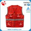 2015 popular reflective safety work vest with many pockets