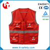 2015 popular working safety vest with zipper front,work vest with many pockets