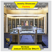 Jewelry display cases wholesale jewellery shop counter wood for hot modern jewelry store