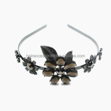 New fashion Classical metal hair band with crystal flower