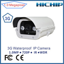 H.264 Outdoor 3G Camera HD 720P Waterproof IP66 Security IP Camera, 50m long distance