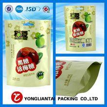 2015 Zipper lock Kraft paper Stand up Dry Foods bag