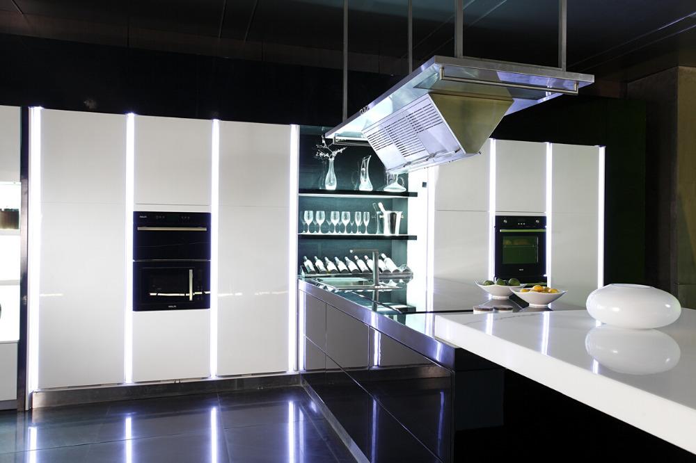 Oulin european style modern simple design wood kitchen for European modern kitchen cabinets
