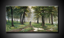 hot sale oil painting forest scenery