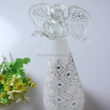 wholesale china supplier best selling home decoration snowman shape tableware high quality glass xmas ornament