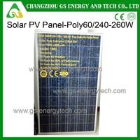 250w poly type china panel solar