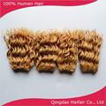 Color mezclado 27/613 onda profunda del pelo teje, extensiones del pelo peruano precio venta al por mayor