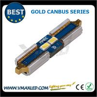 2015 new style festoon 39mm 2smd 3623 chips gold canbus non-polarity led car light led side marker lights