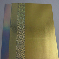 Pe laminated shiny gold gift wrapping paper