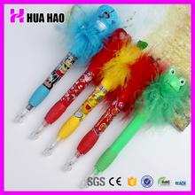 Good quality plastic flower ball pen