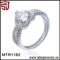 Alibaba Website Handmade Comfort fit Gemstone Silver Ring