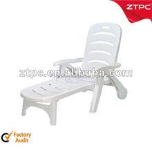 PP plastic folding plastic lounge beach chair