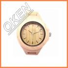 100% natural madeira relógio com o japão movimento de quartzo relógio genebra