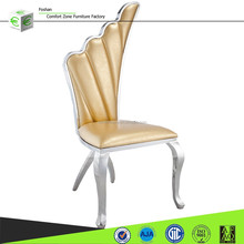 B8069 Antique white dining room leather chairs furniture