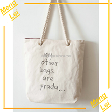 2015 wholesale custom ladies shopping cotton canvas bag