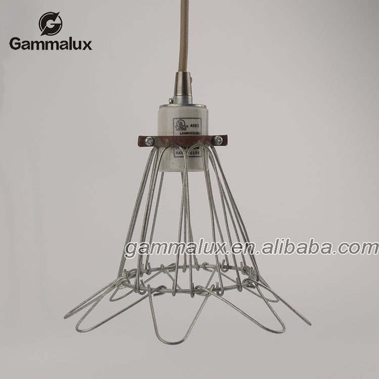 Vintage Pendant LampCage Pendant Light Iron Hanging Light