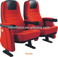 Good quality price 3D auditorium chair with cup holder(YA-07A) cinema chair