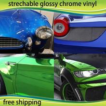 Car Decoration Film 1.52*20m PVC Protective Film Purple Stretchable Mirror Chrome Vinil Film