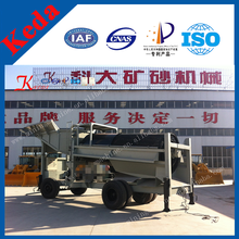 Dry Land Mobile Equipment Drum Screen Mobile Sand Gold Car