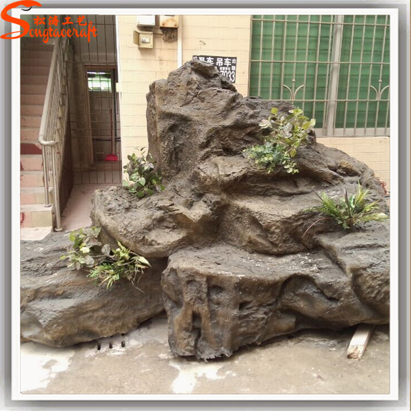 Realistic Decoration Waterfall Wall Fountains Statue