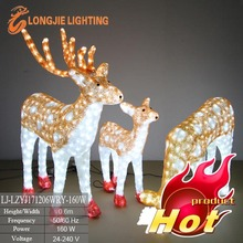 Led 3d ciervo con motivos de luz/luces de renos