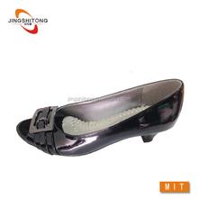 Black women's dress court low heel shoes