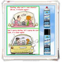 Autokem windshield de-icer spray, ice remover spray, -50 degree anti-freeze/fog de-icer spray