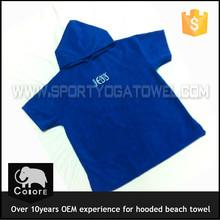 Custom digital printed terry hooded beach kids poncho towel