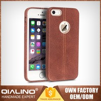 QIALINO Super Slim 100% Warranty For Iphone 5S Back Case Real Leather