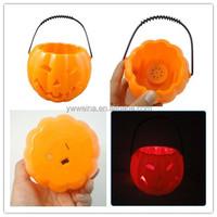 decorative pumpkin lighted halloween buckets