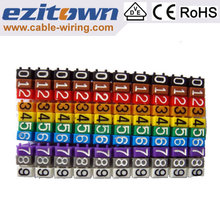 Chinese colorful cable tie marker tag