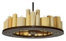 moving wick Casablanca retro Country Style Living Room candle Chandelier