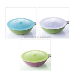 heat resistant airtight suction silicone cooking pot cover for keeping fresh