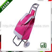 two wheel luggage cart canvas shopping bag pattern