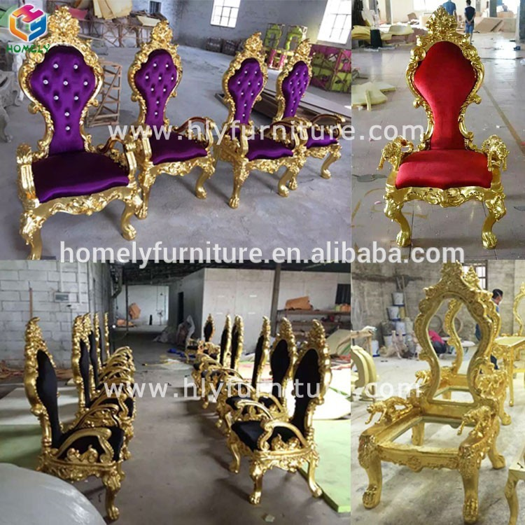 Luxury Reception durable wholesale factory price king chair with diamond HY-K234