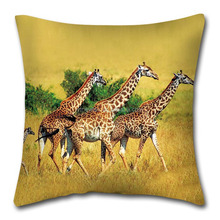 3d digital new design printing cushion with giraffe