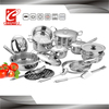 27pcs stainless steel cooking utensil super capsule bottom cookware