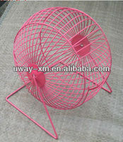 New arrival pink pet wire mesh ball cage for hamster
