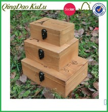 classics nature wood packing case of 3 set