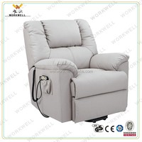 WorkWell modern electric leather sofa recliner made in China Kw-Fu05