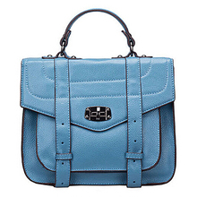 2015 handbags factory in china 100% cow leather handbag tote bag fashion leather collage bag EMG4164